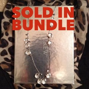 BUNDLED J.Crew Crystal bauble necklace