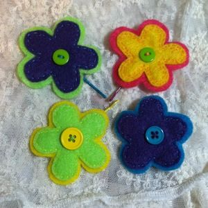 Spring Flower Bobby Pin and Brooch Set