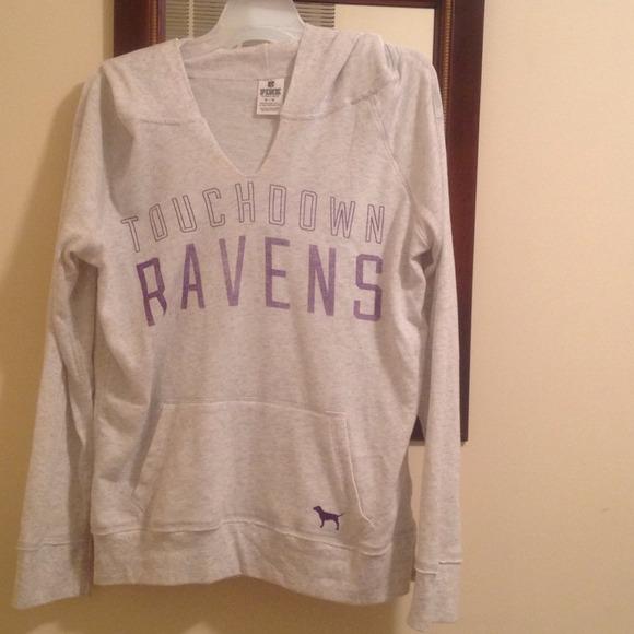 dcaf75820 Victorias Secret PINK Baltimore Ravens Hoodie. M 52b86e36a652b124e403f696