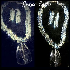 Jewelry - SOLD! Handcrafted Crystal Tear Drops w/Pendant