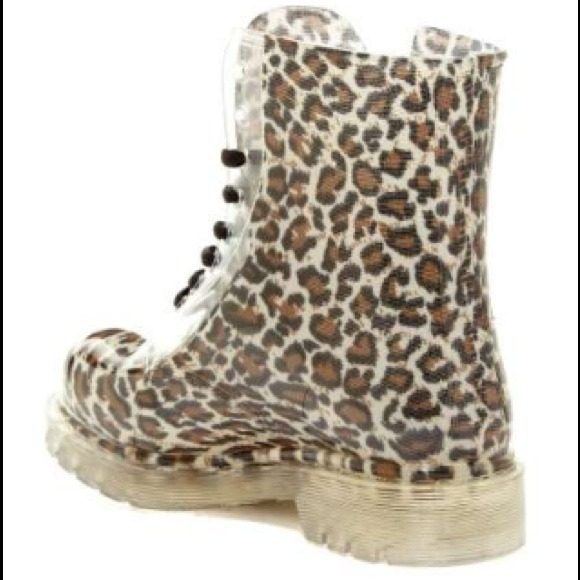 lace up cheetah rain boots 8 from ! 🎀&39s closet on Poshmark
