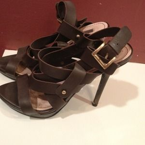 Zara brown leather sandals