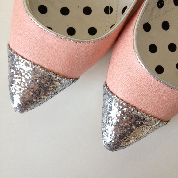Shoes - Pink - Silver Sparkle Flats 2