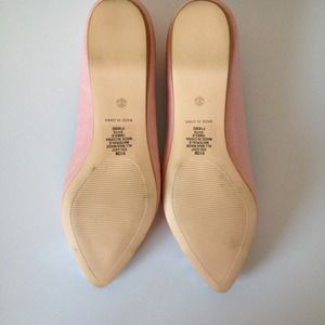 Shoes - Pink - Silver Sparkle Flats 3