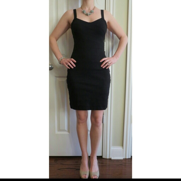 Express Dresses Black Bandage Dress Poshmark