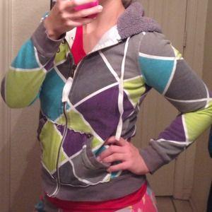 *SALE* Billabong multicolored geometric hoodie EUC