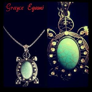 Jewelry - SOLD! Turquoise Gem & Swarvarski Crystal Set