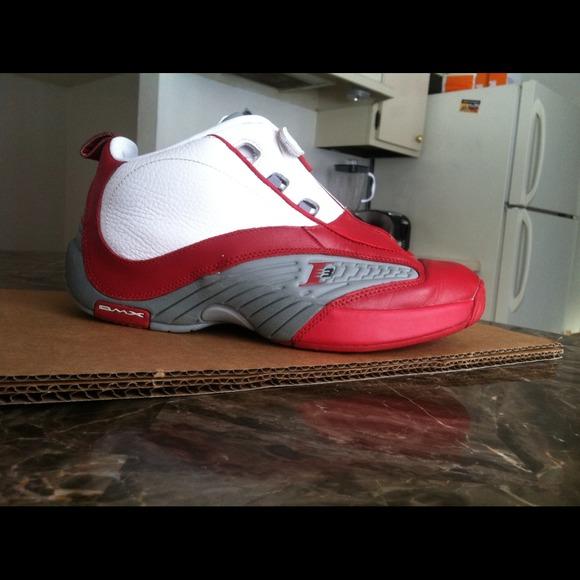 6ab3c297b57aea Reebok Shoes - Reebok Answer IV White Red Sz. 9