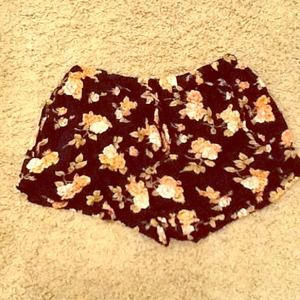 Floral brandy Melville shorts