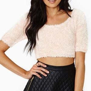 New with tag Nasty Gal soft touch crop