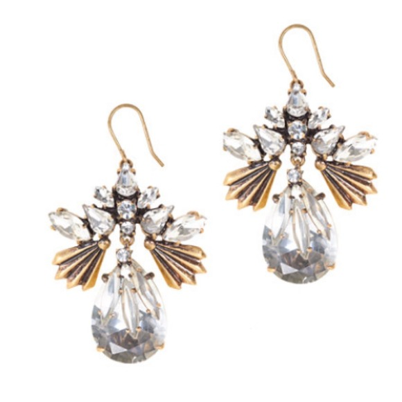 J. Crew Jewelry - 72hr SALE $35 J.Crew fanned droplets earrings
