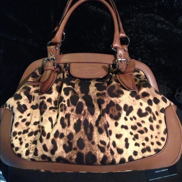 d941168e408 Dolce & Gabbana Bags   Solddolce Gabbana Animalier Leopard Canvas ...