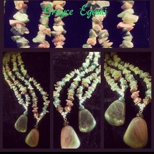 Jewelry - Natural Emerald & Rose Quartz