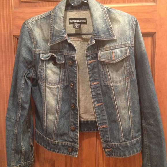 Express - On HOLD Express distressed dirty wash jean jacket from ...
