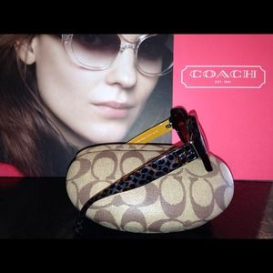 Authentic Coach Sunglasses Dark Tortoise