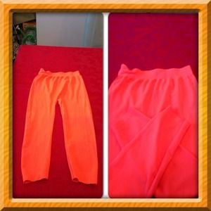 Pants - Neon orange Capri legging.  BRAND NEW.  NEVER WORN