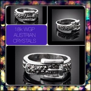 Jewelry - Final💲🎉3⃣XsHP🎉18k WGP Austrian Crystal Buckle R