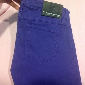 Purple flying monkey jeans