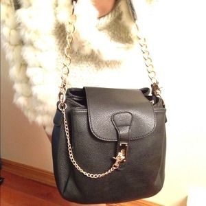 Handbags - Leather black shoulder bag