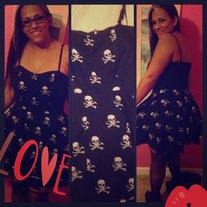 Rock Steady Dresses & Skirts - Hold for @chelsea6kids Black Dress Skull Print