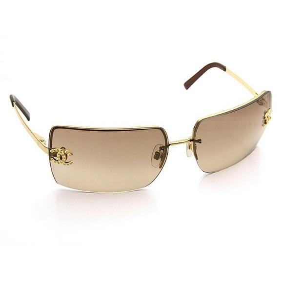 88f0bedfcb2 CHANEL Accessories - Authentic Chanel Rhinestone CC Logo Sunglasses
