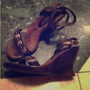 Mila Paoli Shoes - 😍SALE😍Real Leather Brown Wedges