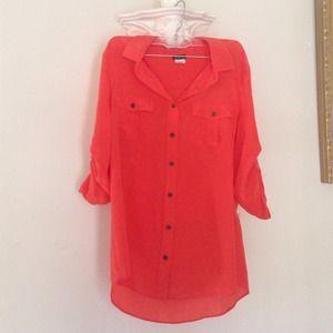 J. Crew silk blouse in poppy