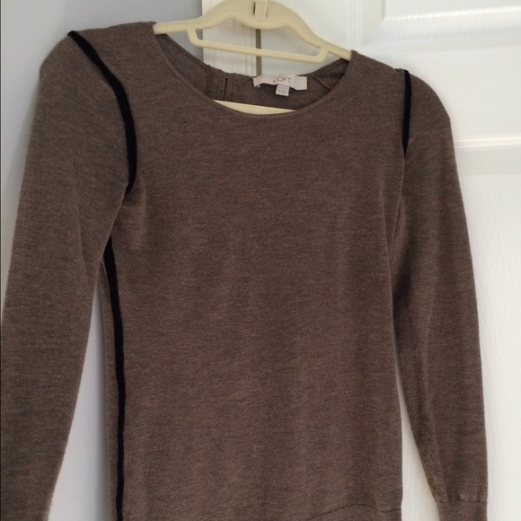 77% off LOFT Sweaters - LOFT heather brown sweater from Alicia's ...