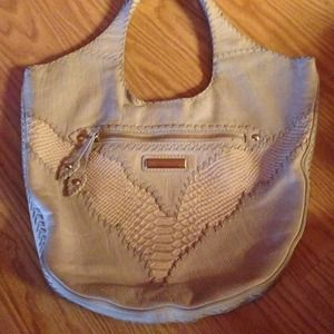 isabella fiore  Handbags - Isabella fiore cream leather stitched bag purse