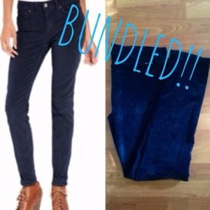 BUNDLED-Lucky Brand Navy corduroy skinnies