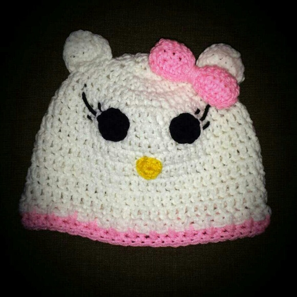 Bellissima Accessories Handmade Crochet Hello Kitty Hat Poshmark