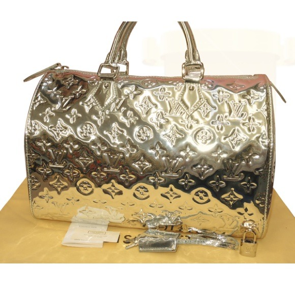 ca71f954cdf Louis Vuitton Bags   Sold Speedy 30 Silver Miroir Bag   Poshmark