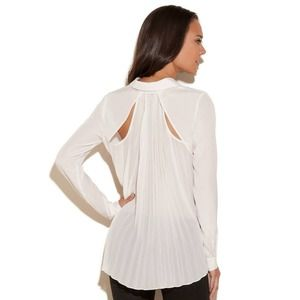 Guess Sheer Top Accordion Pleats Back