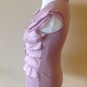 The Limited Tops - XS silky ruffle top, the limited, lavender.