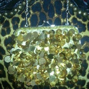 Handbags - SALE! Gold Sequin Clutch