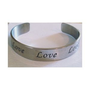 Silver 'LOVE' bracelet