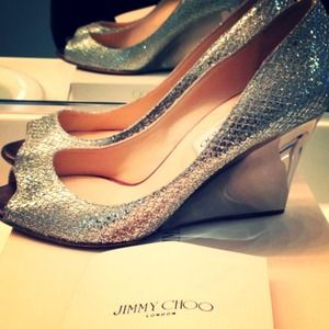 25df9079d41 Jimmy Choo Shoes - Baxen Jimmy Choo glitter wedge 40.5