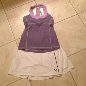 White puma golf skirt small