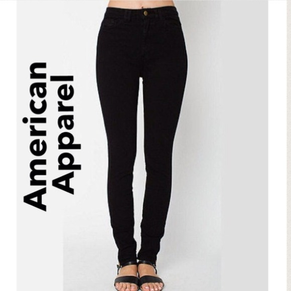 36% off American Apparel Denim - American Apparel High Waisted ...