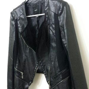 Faux zipper jacket