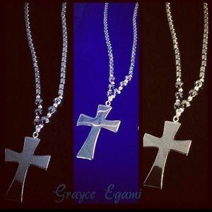 Jewelry - SOLD! Healing Hematite Sacred Cross