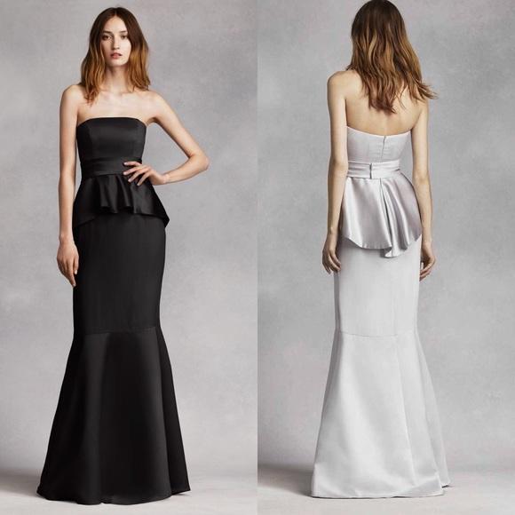 Vera Wang Dresses Peplum Dress Gown Poshmark