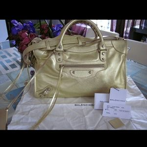 NWT Balenciaga gold city tote / bag s/s
