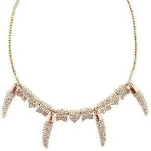 Rebecca Minkoff Pave Gold Horn Statement Necklace
