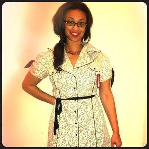 Vintage polka dotted dress