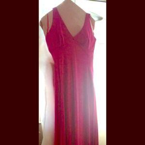 BCBG Satin Hot Pink Halter Gown