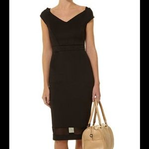 Dorothy Perkins Dresses - Dorothy Perkins Black Bardot Cocktail Sheer Dress 1