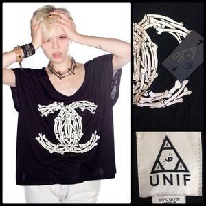 UNIF 💀 Fancy Bones T. NWT