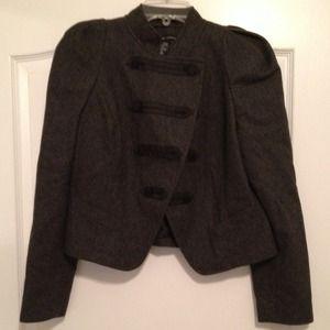 Grey Wool Military Jacket