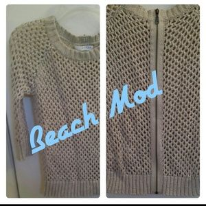 kenar Sweaters - Kenar beige open knit sweater
